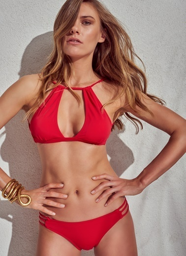 Morhipo Beach Göğüs Detaylı Bikini Kırmızı